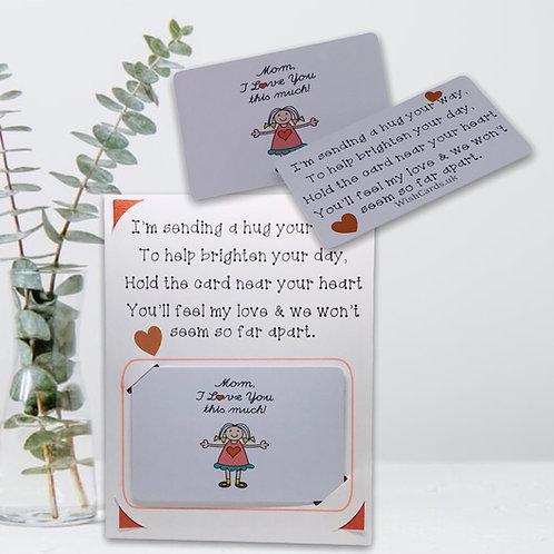 Wish Card ~ Pocket Hug ~   Mom 💜