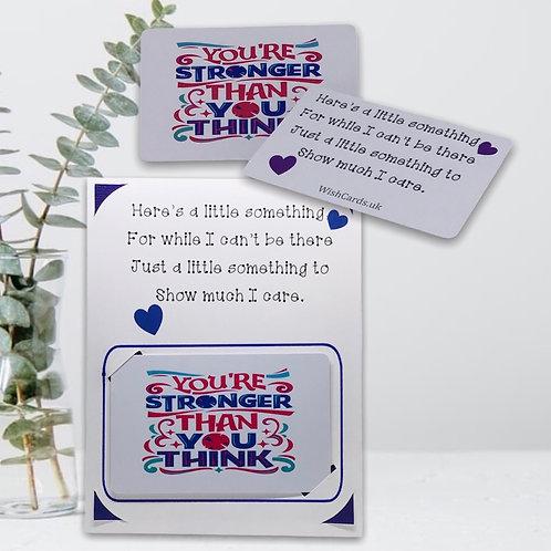 Wish Card ~ Pocket Hug Card~ Stronger than you think 💜