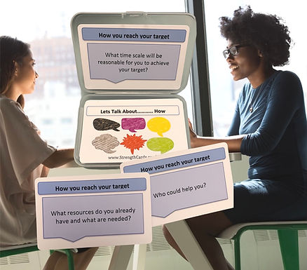 'Lets talk' Solution Focused Coaching Cards