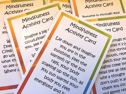 12 Mindfulness Activity Cards for children