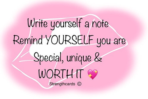 write yourself a note