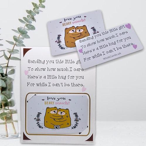 Wish Card ~ Pocket Hug Card~  I love you beary much 🐻
