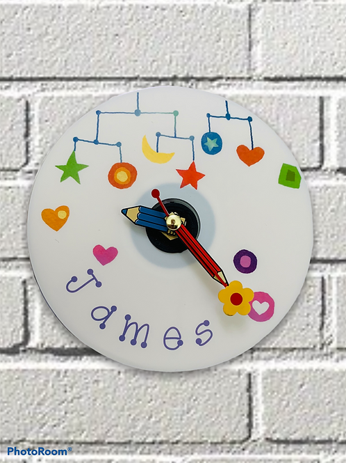 CD Clock ~ personalised child's name
