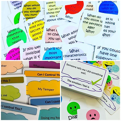 Resource set 5 Discussion cards, Control Cards, My emotion is.