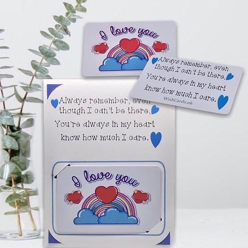 Wish Card ~ Pocket Hug ~  Always remember  🌈