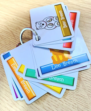 Animal Breathing Technique Cards ~Key Fob
