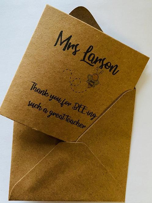 Cards for Teachers, Teaching Assistants, Childminders etc