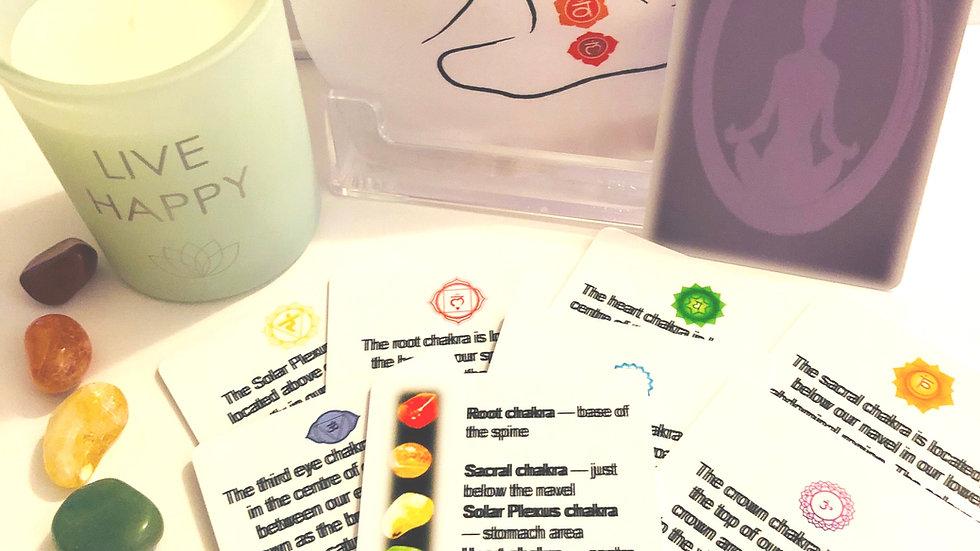 7 Chakra Stone & Card Set