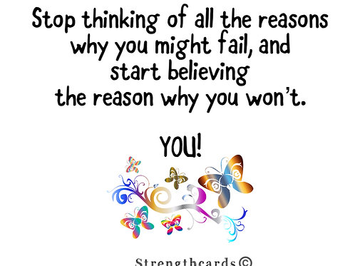 Stop thinking ....