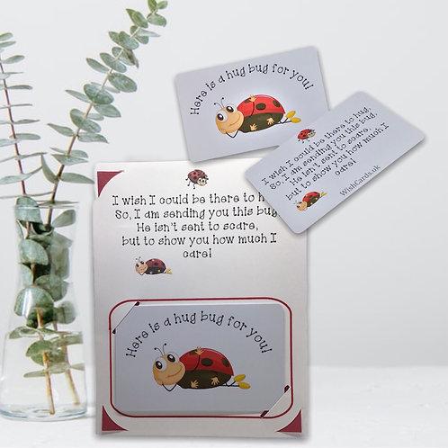 Wish Card ~ Pocket Hug ~  lady bug 🐞
