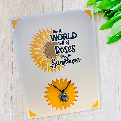 Wish Card ~ Sunflower 🌻