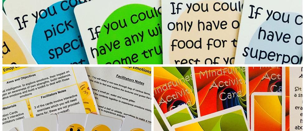 Resource set 2 - Discussion cards- Mindfulness cards - Emoji Emotion