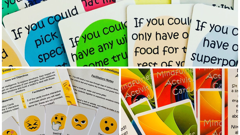 Resource set 2 - Discussion cards- Mindfulness cards - Emoji Emotion