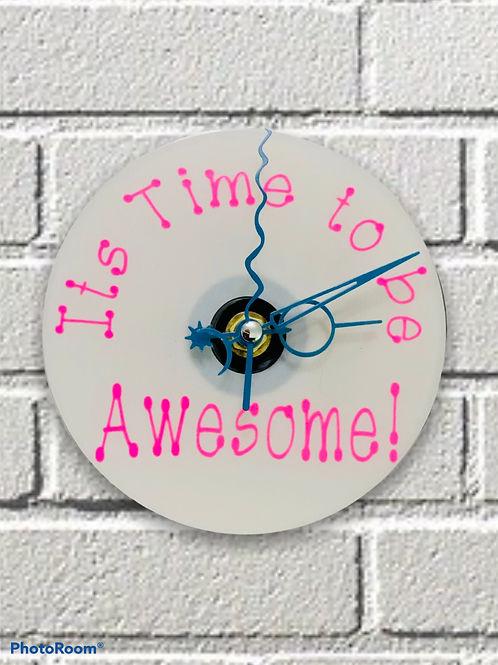 CD Clock ~ it's time to be awesome!