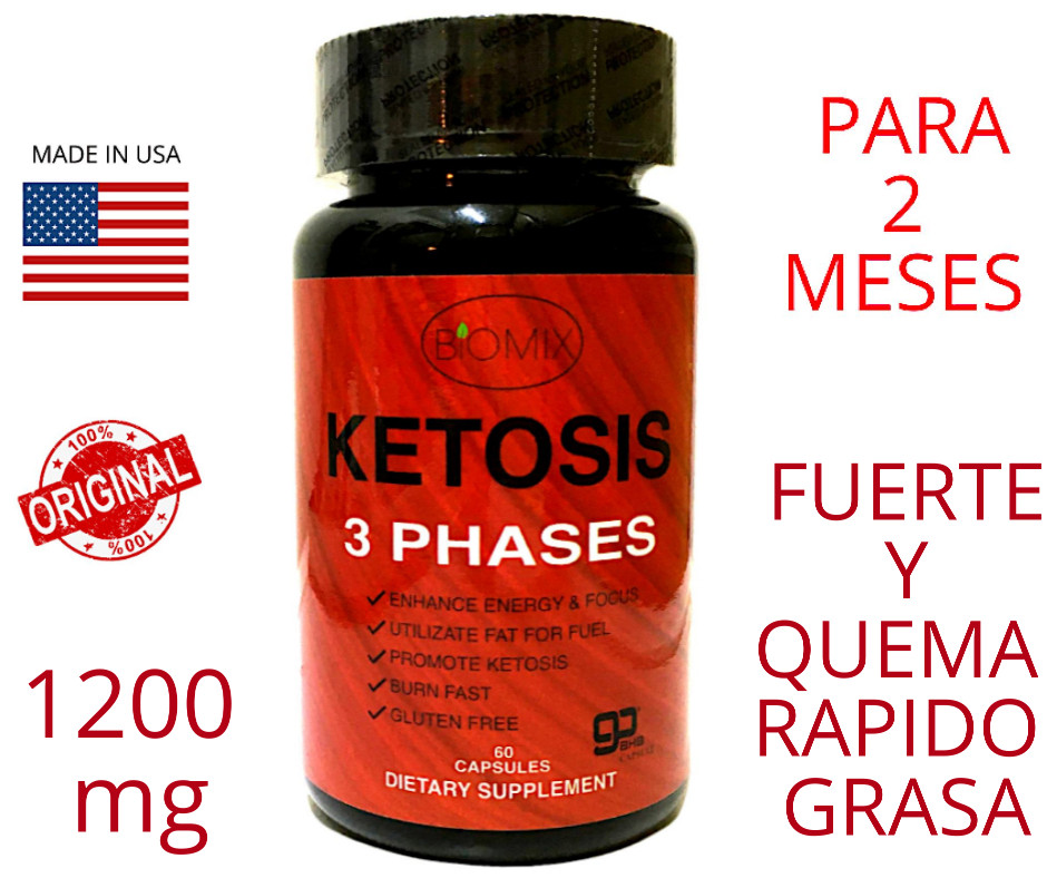 Keto 3 Phases 1200 mg con MCT y Vinagre de Manzana con la Madre de E.U