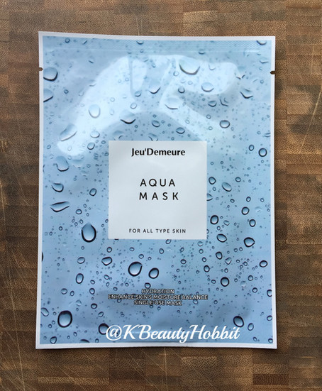 Jeu' Demeure Aqua Mask - Hydrating Review