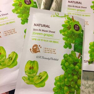 The Saem Natural Skin-Fit Mask Sheet Green Grape Review