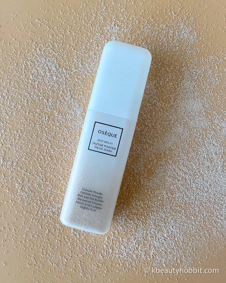 Oseque Silky Bright Enzyme Powder Facial Wash Review