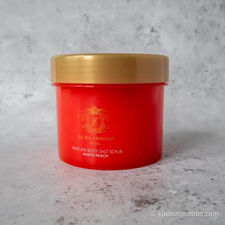 29 St. Honore Perfume Body Salt Scrub White Peach Review