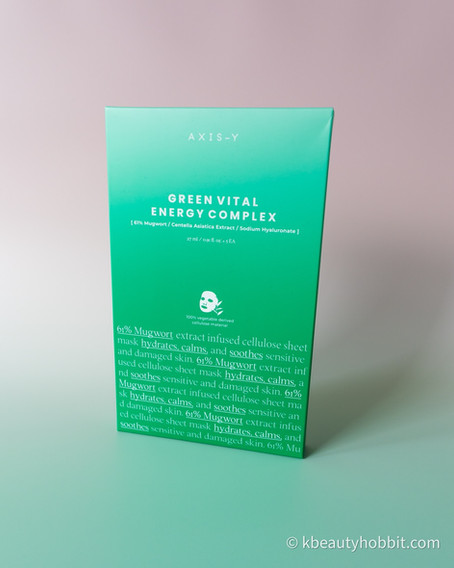 AXIS-Y 61% Mugwort Green Vital Energy Complex Sheet Mask Review