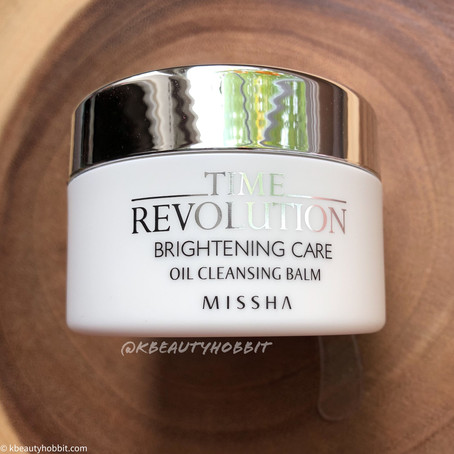 Missha Time Revolution Brightening Care Oil Cleansing Balm Review