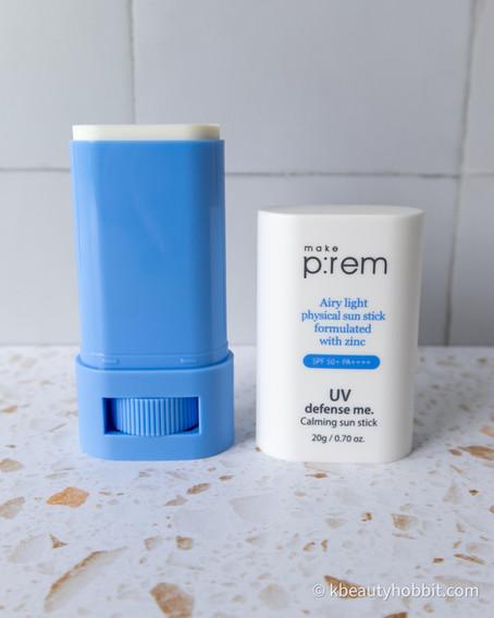 Make p:rem UV Defense Me Calming Sun Stick SPF 50+ PA++++ Review