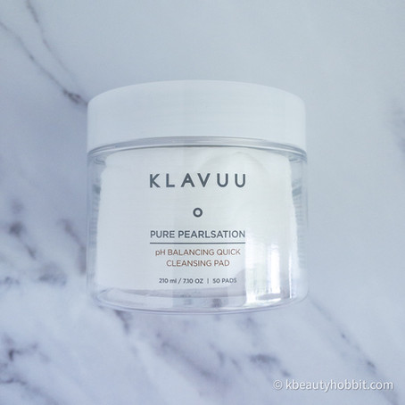 KLAVUU Pure Pearlsation PH Balancing Quick Cleansing Pad Review