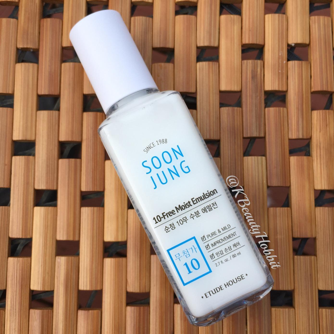 Etude House Soon Jung 10-Free Moist Emulsion Review   Home   K Beauty Hobbit