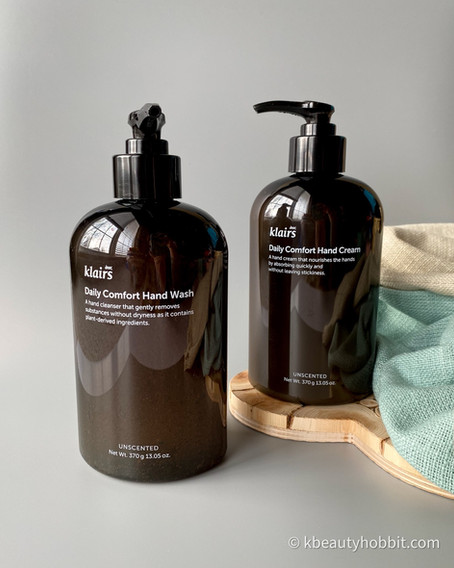 Klairs Daily Comfort Hand Wash and Hand Cream Review