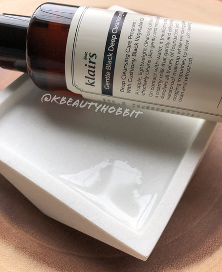 Klairs Gentle Black Deep Cleansing Oil Review