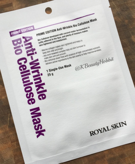 Royal Skin PRIME EDITION Anti-Wrinkle Bio Cellulose Mask Review