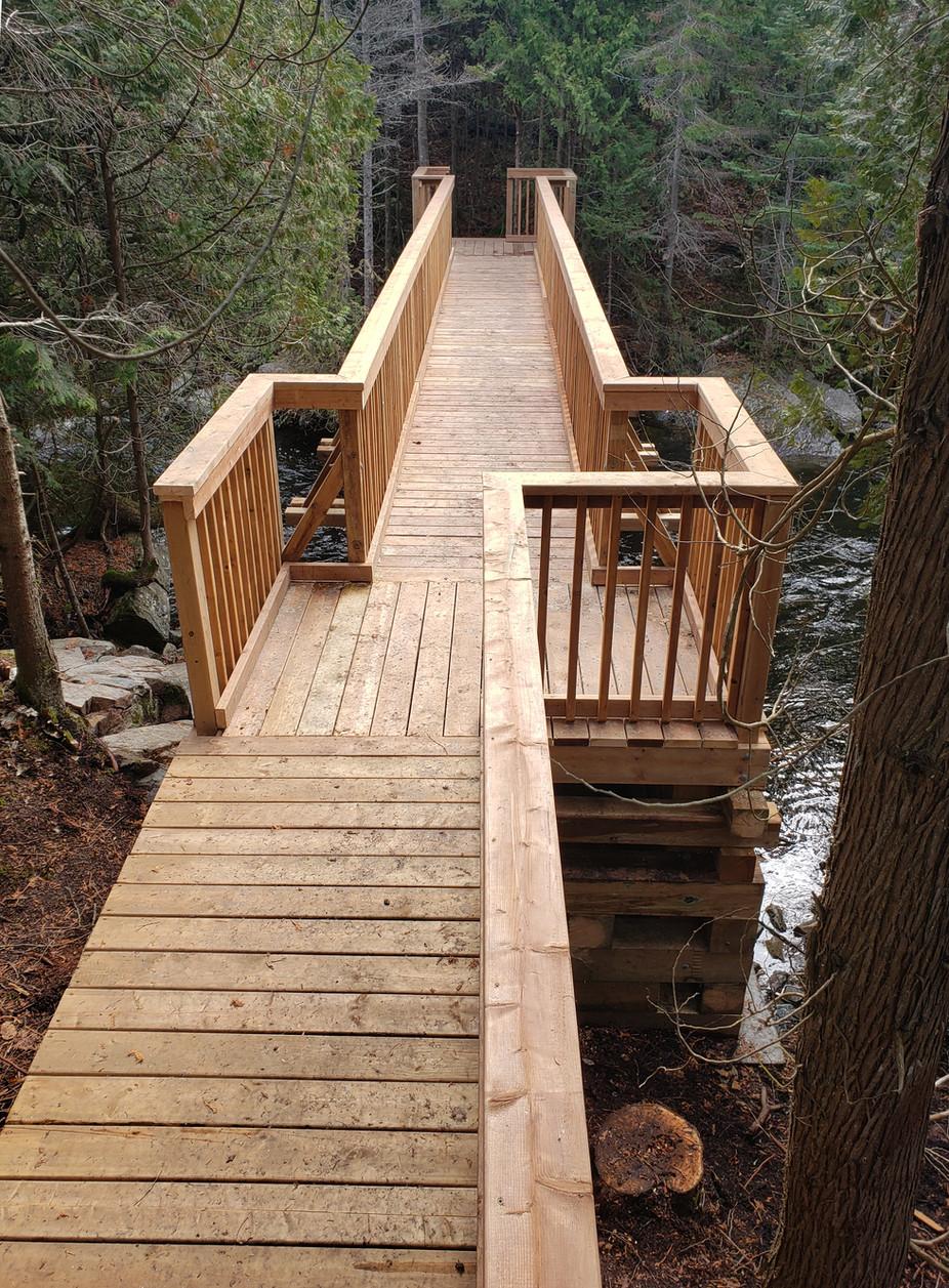 Bridge on Noisy Bay hiking trail