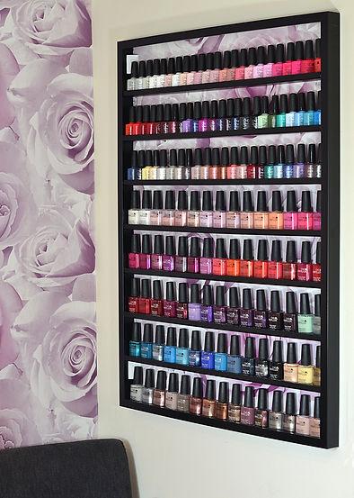 Nail varnish options at Holly's Beauty