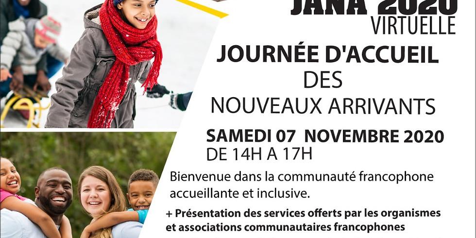 JOURNÉE D'ACCUEIL DES NOUVEAUX ARRIVANTS (JANA) 2020