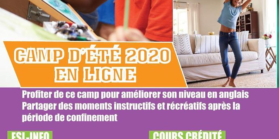 CAMP D'ETE 2020 EN LIGNE