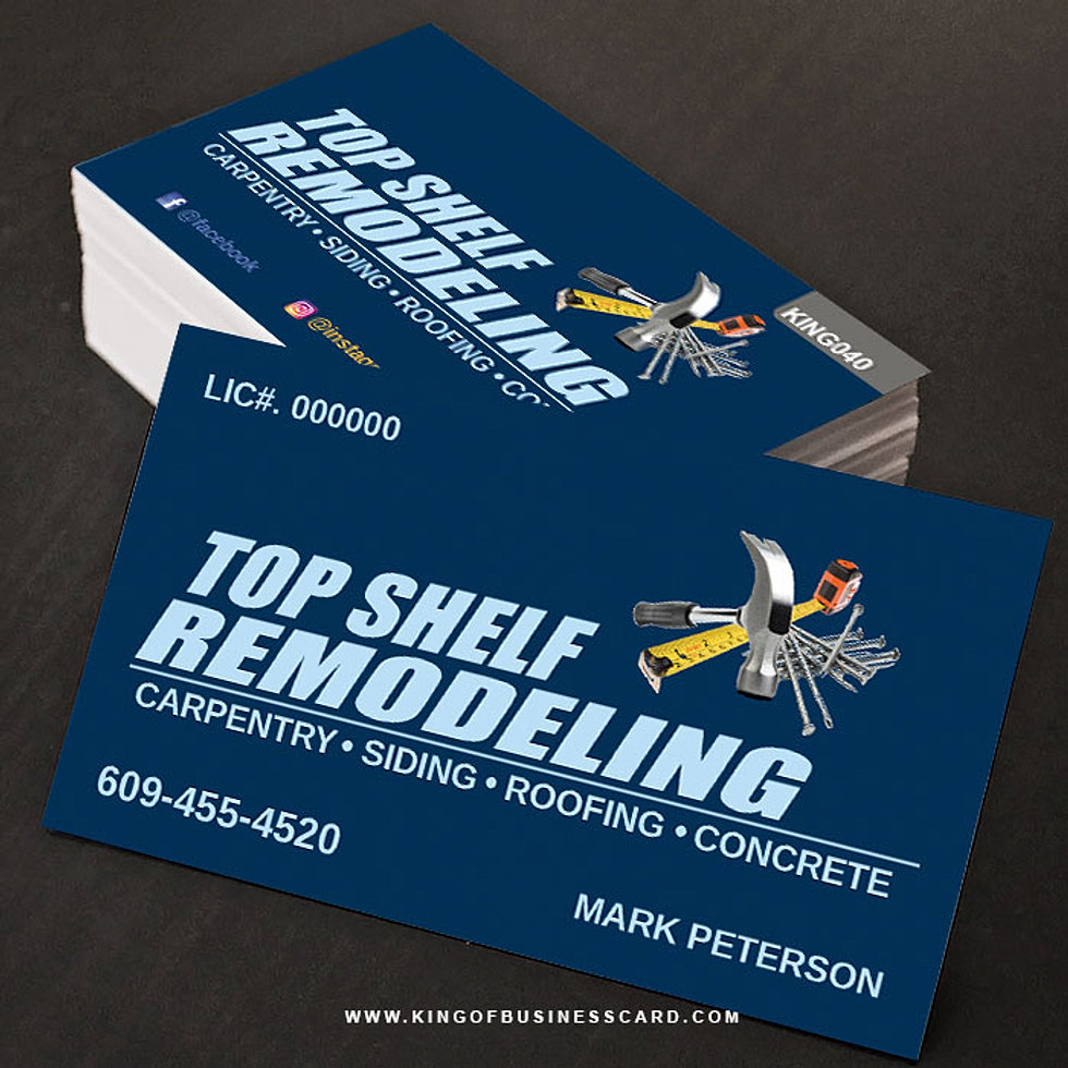 Famous Carpentry Business Cards Gallery - Business Card Ideas ...