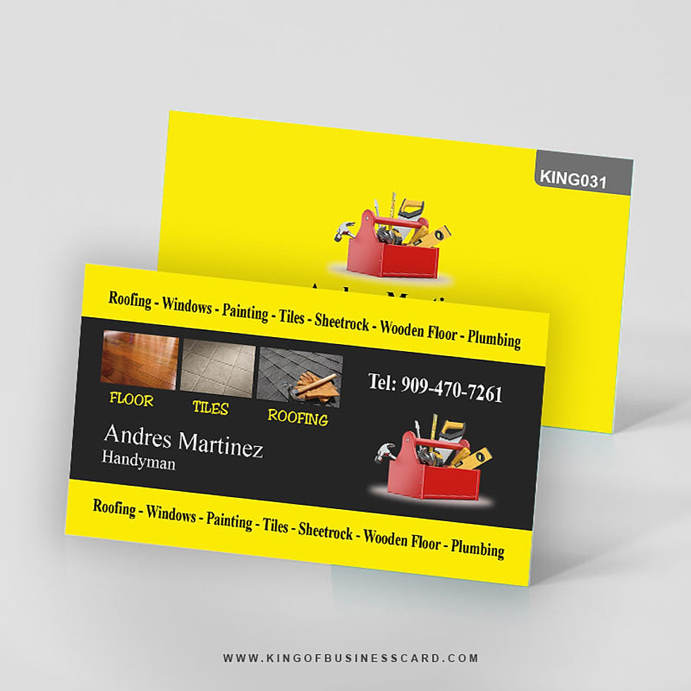 Pretty Business Cards Handyman Photos - Business Card Ideas ...
