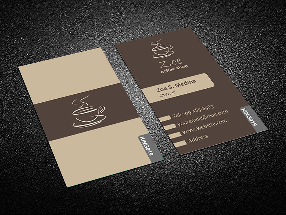Awesome Coffee Business Cards Photos - Business Card Ideas ...