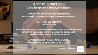 Programa de Becas Creación 2019. Casa Belgrado + Rosaval Gaspard