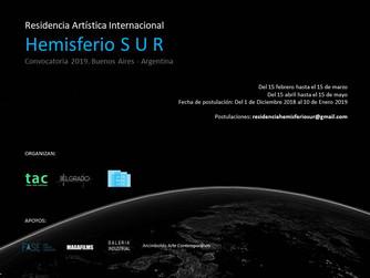 """Residencia Artística Internacional """"HEMISFERIO SUR"""" – CONVOCATORIA 2019"""