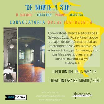 """Residencia """"De Norte a Sur"""" (Prórroga hasta el 20-feb-20)"""