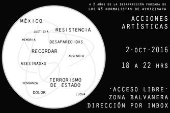 ACCIONES ARTÍSTICAS X AYOTZINAPA