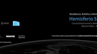 """Residencia Artística Internacional """"HEMISFERIO SUR"""" – CONVOCATORIA 2019 (Abierta)"""