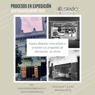 Procesos en Exposición - 1ra Convocatoria en La Vitrina de Belgrado