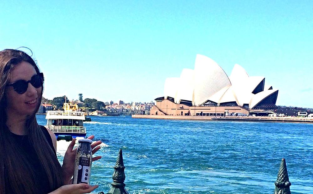 Keksbackmischung in Sydney vor dem opera house