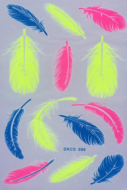 Cartela Neon Feathers