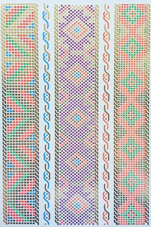 Cartela Colored Dots