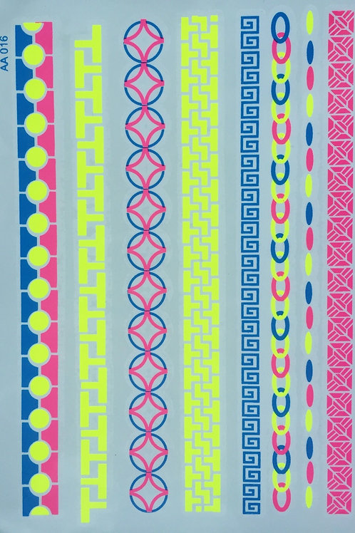 Cartela Neon Bracelet