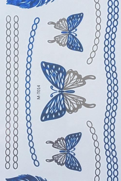 Cartela Blue Butterflies