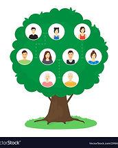 cartoon-family-tree-infographics-concept